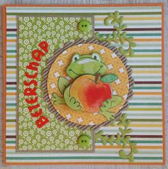 Opkikkertje Marianne Design, Get Well Cards, I Card, Kids Rugs, Handmade, Cards, Hand Made, Kid Friendly Rugs, Nursery Rugs
