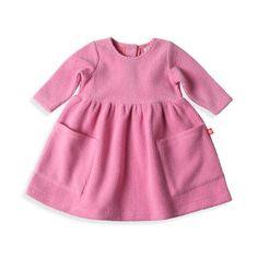 Zutano baby Dress Cozie Dress - Hot Pink