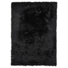 House of Hampton Ryckman Faux Fur Black Area Rug Rug Size: Rectangle X Faux Fur Area Rug, Faux Sheepskin Rug, Black Rug, Black Wool, White Area Rug, Beige Area Rugs, Grand Bazaar, Colorful Rugs, Wool Rug