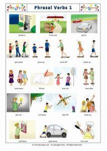 Phrasal Verb 1 Flashcards for children