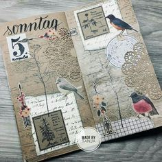 S journal vintage bujo art journal pages, art journ Junk Journal, Travel Journal Pages, Journal Paper, Scrapbook Journal, Art Journal Pages, Art Journals, Kunstjournal Inspiration, Art Journal Inspiration, Bujo