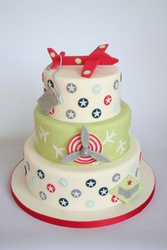 Cute airplane cake.