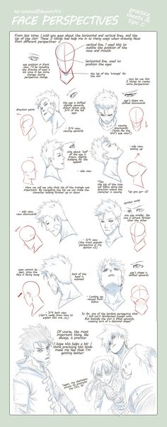 TIPS: Head n Face Perspectives by ~another-kai on deviantART