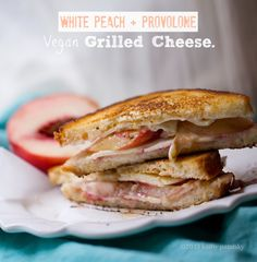 Peach Provolone Vegan Grilled Cheese Sandwich, and picnic tips!