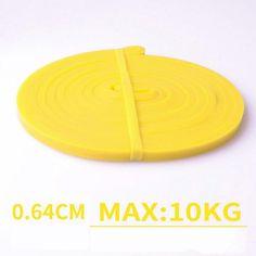 Premium Elastic Workout Resistance Bands (Women/Men) - 1pc yellow band / Poland