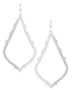 Sophee Drop Earrings in Silver - Kendra Scott Jewelry $50