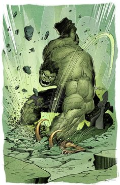 One of everyone's favorite scenes in The Avengers is when Hulk went ballistic on Loki, as he repeatedly smashed him on the floor. Here's an awesome piece of Hulk fan art inspired by that scene that was created by raultrevino. Marvel Dc Comics, Hulk Marvel, Comics Anime, Marvel Heroes, Spiderman, Hulk Avengers, Comic Book Characters, Marvel Characters, Comic Character