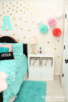 Tween Girls Bedroom Makeover - Giggles Galore