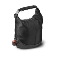 """A perfect bag to stylishly serve your box of wine outdoors, at the beach, by the pool, in the park, on a picnic. Simply take the wine out of the box, place it in Wine Purse, close the flexible top and go. There is room to add an ice pack for a chilled white. The rubber base keeps the wine secure on any surface. No more worries about broken glass, open bottles, or running out of 1 bottle of wine.     Material: polyester, silicone, metal.  Measures : approx 13"""" tall  Capacity: 3 litre."""