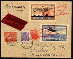 Interesting 1921 Polish airmail letter.
