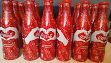 Coca Cola ROMANIAN VALENTINES DAY 18 Aluminium Alu Aluminum BOTTLES BOUTEILLES