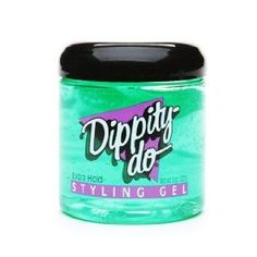 Dippity Do.  Used to use this to try to straighten my wavy hair.  Countless nights of going to bed with Dippity do on my hair which was taped down with masking tape...  LOL