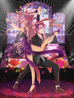 """I wanted to make a drawing based on dancing, since I admire dancing a lot.  """"Rhythm is a dancer It's a source companion People feel it everywhere"""" Quoted from: Snap!"""