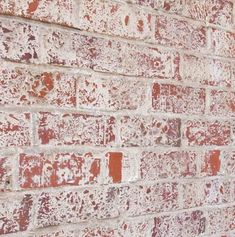 Example of lime washed red brick. Very aged looking.