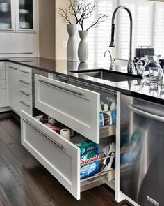 under-sink drawers. @ Adorable Decor : Beautiful Decorating Ideas!Adorable Decor : Beautiful Decorating Ideas!