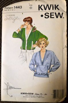 Sewing Pattern Kwik Sew 1413 Misses' Cardigan Size XS-L Bust 31-41.5  inches Uncut Complete by GoofingOffSewing on Etsy