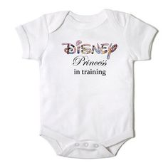 Disney Princess in Training Funny Onesie Bodysuit by CasualTeeCo, $14.00