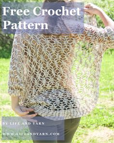 Come check out this Free Crochet Cocoon Pattern, Celia! This Free Crochet Pattern works up fast and is definetly a beginner friendly pattern! Dog Sweater Pattern, Crochet Dog Sweater, Crochet Shirt, Crochet Sweaters, Chunky Crochet, Crochet Lace, Crochet Stitches, Crochet Hooks, Easy Crochet