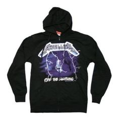 Metallica Ride the Lightning Hoodie - Brave the storm and Ride the Lightning in this Metallica Men's hoodie featuring album art from their second album released in 1984