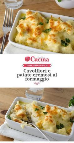 Cavolfiori e patate cremosi al formaggio Antipasto, I Love Food, Good Food, Healthy Cooking, Cooking Recipes, Savoury Dishes, Vegetable Recipes, Food Inspiration, Italian Recipes