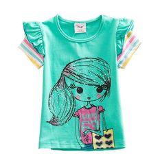 cfba2ce6b Kids T Shirt Baby Girls T Shirt Tees Cotton Cartoon Unicorn Tops Summer  Clothes Cute Children Girls Short Sleeve Tees M50961