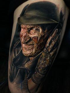 Fresh new Freddy tatt from Mike Johnston Empyreal Ink Pawtucket RI Lion Head Tattoos, Scary Tattoos, New Tattoos, Body Art Tattoos, Tatoos, R Tattoo, Piercing Tattoo, Tattoo Drawings, Horror Movie Tattoos