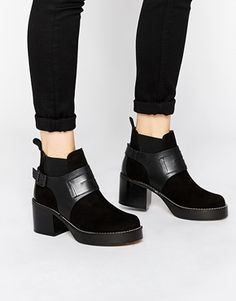 To Be Announced Noel Platform Heeled Ankle Boots