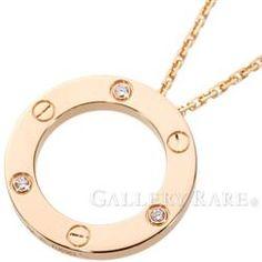 カルティエ ネックレス ラブ サークル ダイヤモンド 3Pダイヤ K18PGピンクゴールド B7014700 Cartier ジュエリー ペンダント ダイアモンド
