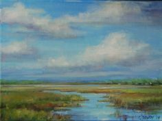 """""""High Noon, Low Country"""" 36 x 48"""" Oil on canvas"""