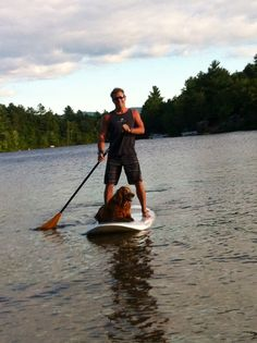 Get in on the #LLBean Stand-Up Paddleboard fitness craze (and bring along your furry best friend!)