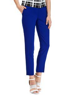 Slim Leg Ankle Grazer Trousers   M&S