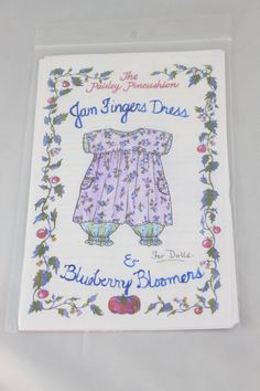 Doll clothing Pattern for a 18 to 20 doll Jam by reggiesdolls