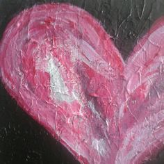 "A closer look at this ""simple "" heart painting reveals complex textures and layered colors....Because the heart is a complicated place,  and no two love stories are quite the same."