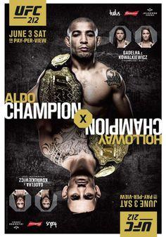 UFC 212 pronósticos, predicciones y picks JOSE ALDO SCARFACE Vs MAX HOLLOWAY BLESSED main card