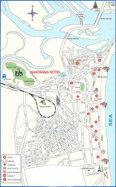 Nha Trang hotel map