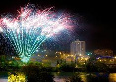 Fireworks Display at River Landing in Saskatoon, Saskatchewan