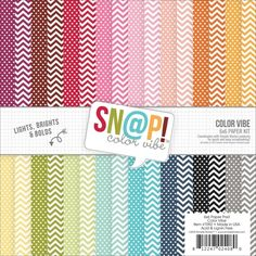 Simple Stories COLOR VIBE II 6 x 6 Snap Paper Pack 7092