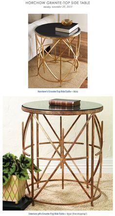HORCHOW GRANITE TOP SIDE TABLE Vs INTERIOR 38u0027S GRANITE TOP SIDE TABLE