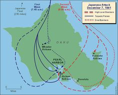 Japanese approach at pearl harbor alwaysmember view several versions of the pearl harbor map at on december 1941 the time and date when the japanese attack on pearl harbor began gumiabroncs Choice Image