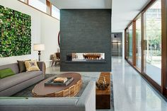 Lincoln Park Residence by Vinci | Hamp Architects - floor and fireplace