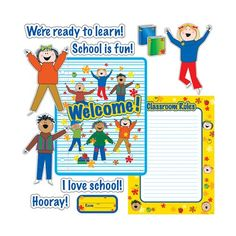 Welcome back to school bulletin board CTP1694