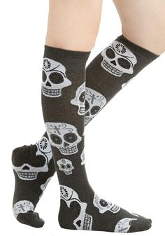 Shop ModCloth for our assortment of the women's tights, printed, opaque and polka dot! Get OFF when you buy 2 pairs of tights at ModCloth! Funky Socks, Crazy Socks, Cute Socks, Grunge, Skull Fashion, Punk, Up Girl, Halloween Outfits, Sock Shoes