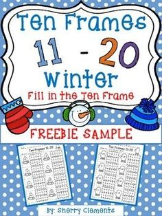 FREE: Ten Frames 11-20 Winter (FREEBIE SAMPLE) (Fill in the Ten Frames)PLEASE leave me some FEEDBACK! -- Thanks! After downloading, click the back arrow to leave feedback. Thank you so much!To view the entire product, click the link below:Ten Frames 11-20 Winter (Fill in the Ten Frame)I hope your students enjoy filling in the ten frames on these 2 freebie sample pages to match the numbers.