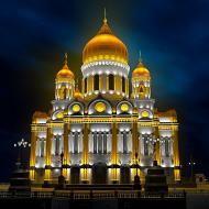 Архитектурное освещение - Храм Христа Спасителя, Москва