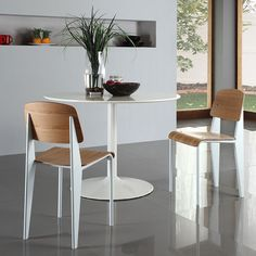 Cornwall Dining Chair | White Dining + Kitchen | Mixed Materials | Modern Design | Eurway