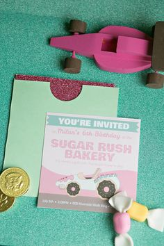 Sugar Rush Candy Party with REALLY CUTE Ideas via Kara's Party Ideas | KarasPartyIdeas.com #WreckItRalph #SugarRush #Baking #PartyIdeas #PartySupplies