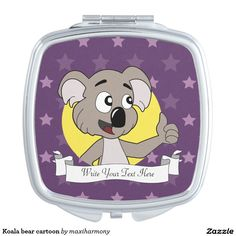 Koala bear cartoon mirrors for makeup