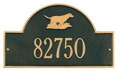 Retriever Arch Address Plaque