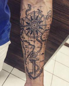 "Résultat de recherche d'images pour ""significado da rosa dos ventos tatuagem"""