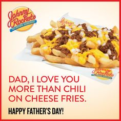 Chili Cheese Fries at Johnny Rockets in Seattle Southside Fathers Day Ecards, Best Restaurants In Seattle, Chili Cheese Fries, Indian Food Recipes, Ethnic Recipes, Thai Restaurant, I Want To Eat, Best Places To Eat, Cheesesteak